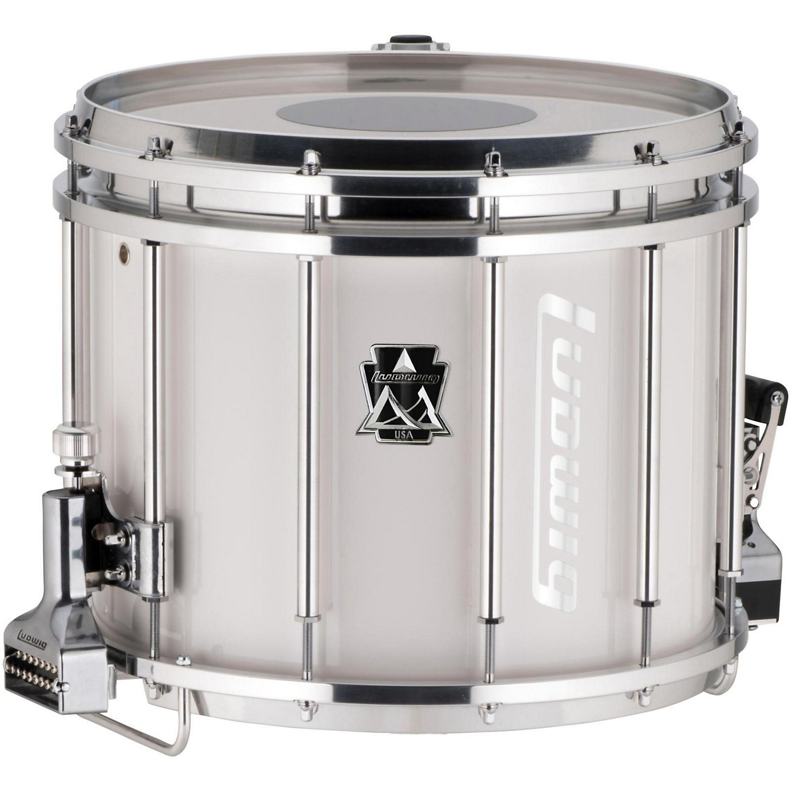 Ludwig Ultimate Marching Snare Drum, 14 x 12 in., White