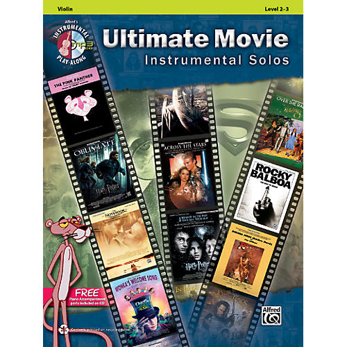 Alfred Ultimate Movie Instrumental Solos for Violin Book & CD