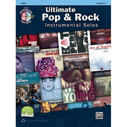 Alfred Ultimate Pop & Rock Instrumental Solos for Strings Cello (Book/CD)