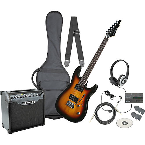 Laguna Ultimate Rock Rack Electric Guitar Pack with Spider III 15W Amp 3-Tone Sunburst