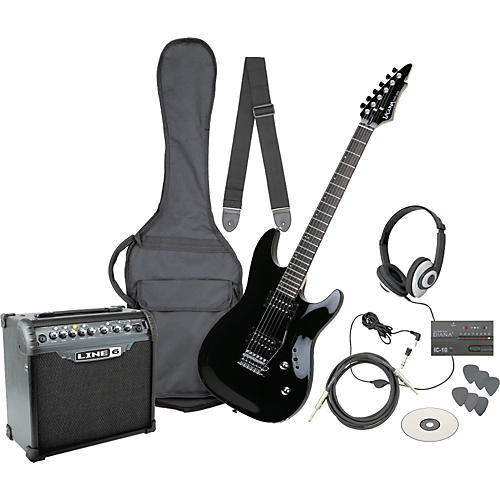 Laguna Ultimate Rock Rack Electric Guitar Pack with Spider III 15W Amp Black