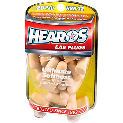 Hearos Ultimate Softness Bulk Pack Ear Plugs 20-Pairs