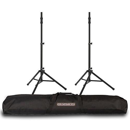 ultimate support ultimate support ts 100 speaker stand pair w musicians gear speaker stand bag. Black Bedroom Furniture Sets. Home Design Ideas
