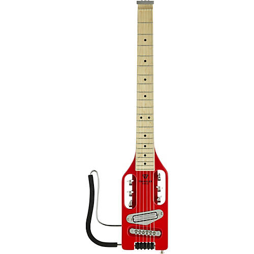Traveler Guitar Ultra-Light Electric Left-Handed Electric Travel Guitar Torino Red