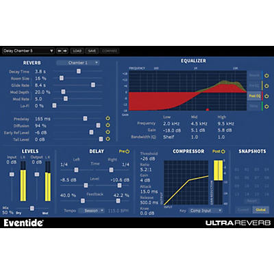 Eventide UltraReverb Native Plug-in Software Download