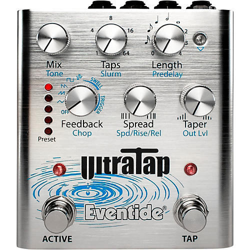 Eventide UltraTap Delay/Reverb Multi-Tap Effects Pedal Silver