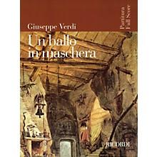Ricordi Un Ballo in Maschera (Opera Full Score) Study Score Series Composed by Giuseppe Verdi