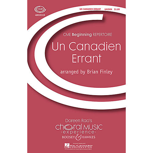 Boosey and Hawkes Un Canadien Errant (CME Beginning) UNIS arranged by Brian Finley
