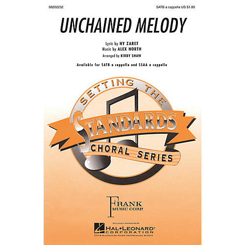 Hal Leonard Unchained Melody SATB a cappella arranged by Kirby Shaw