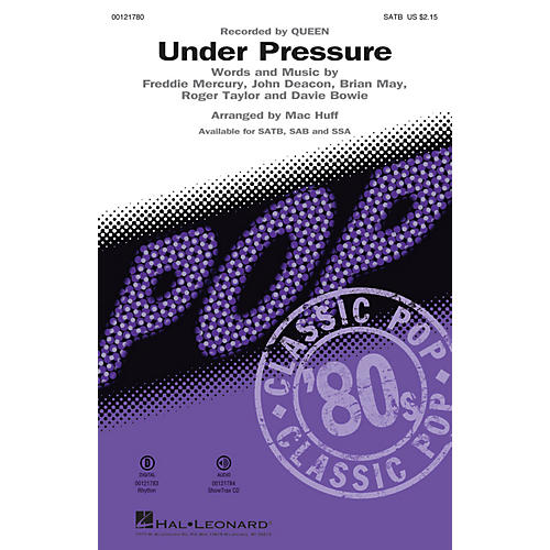 Hal Leonard Under Pressure SATB by Queen arranged by Mac Huff