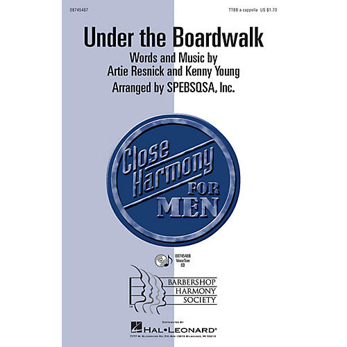 Hal Leonard Under the Boardwalk TTBB A Cappella by The Drifters