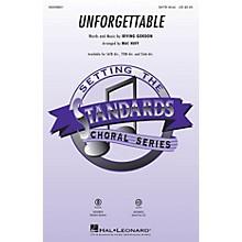 Hal Leonard Unforgettable SSAA DIVISI Arranged by Mac Huff