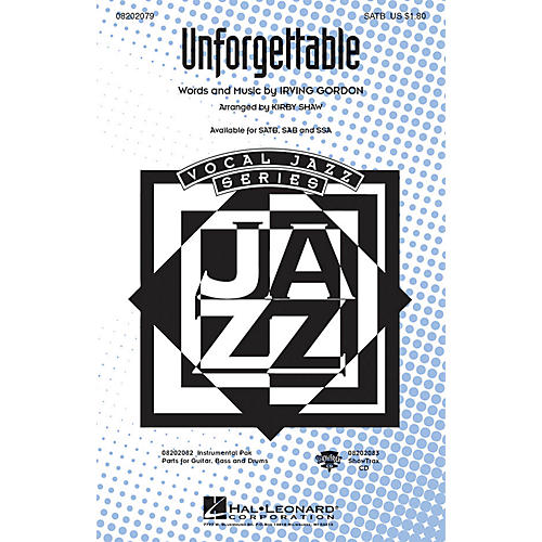 Hal Leonard Unforgettable ShowTrax CD Arranged by Kirby Shaw