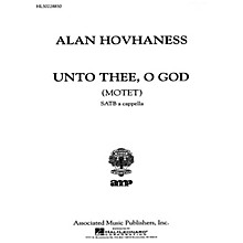 Associated Unto Thee O God  Motet A Cappella SATB composed by A Hovhaness