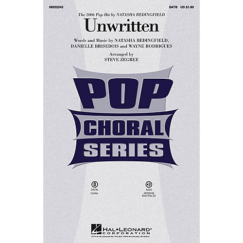 Hal Leonard Unwritten ShowTrax CD by Natasha Bedingfield Arranged by Steve Zegree