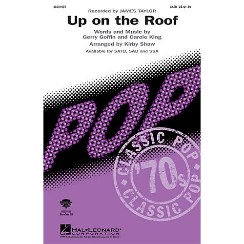 Hal Leonard Up On the Roof ShowTrax CD by James Taylor Arranged by Kirby Shaw