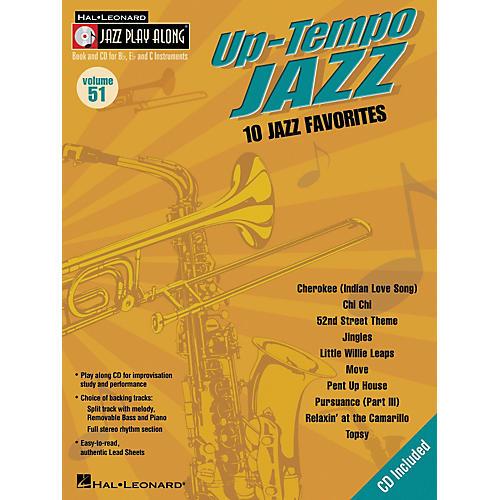 Hal Leonard Up-Tempo Jazz - Jazz Play-Along Series Volume 51 (Book/CD)