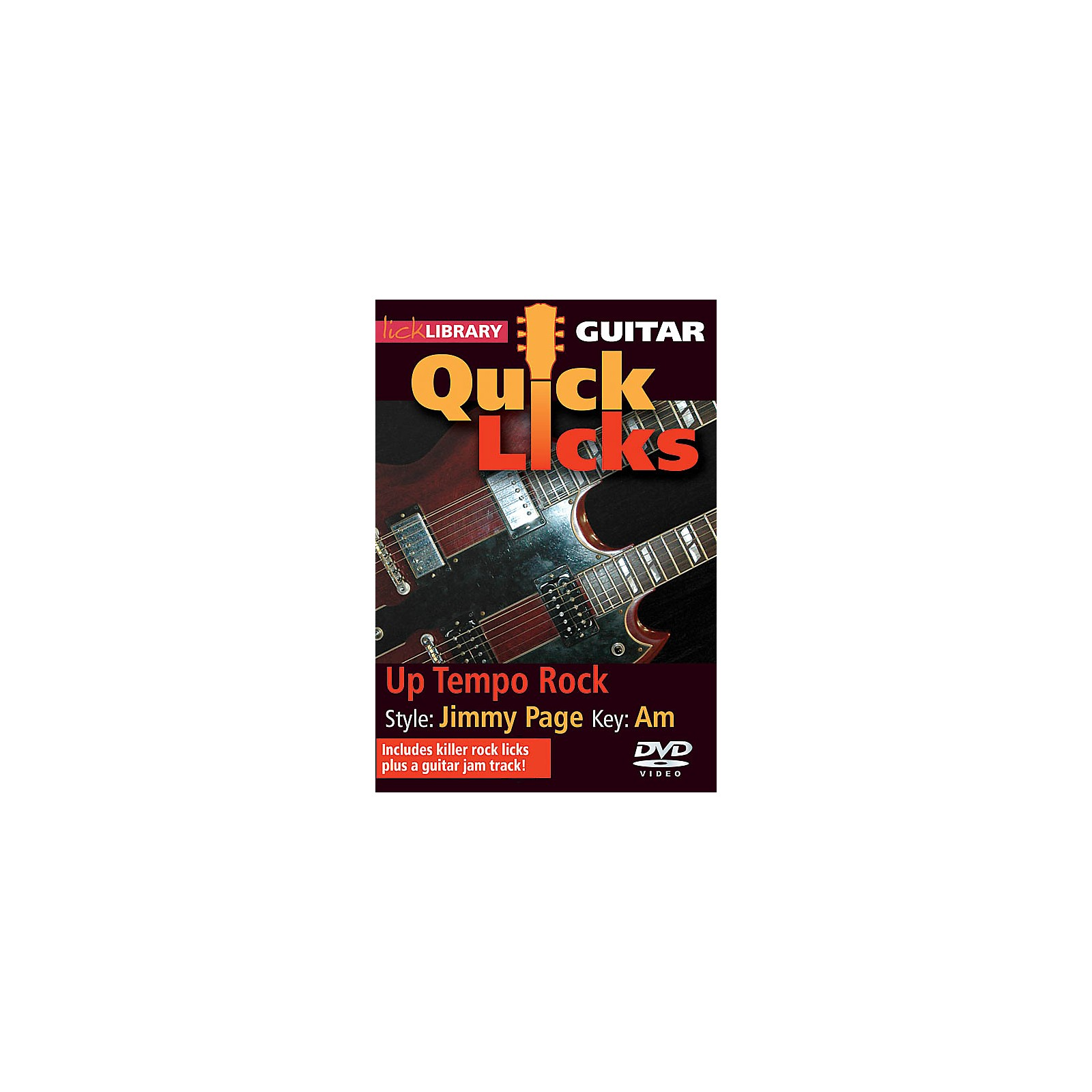 Licklibrary Up Tempo Rock - Quick Licks (Style: Jimmy Page; Key: Am) Lick Library Series DVD Written by Danny Gill