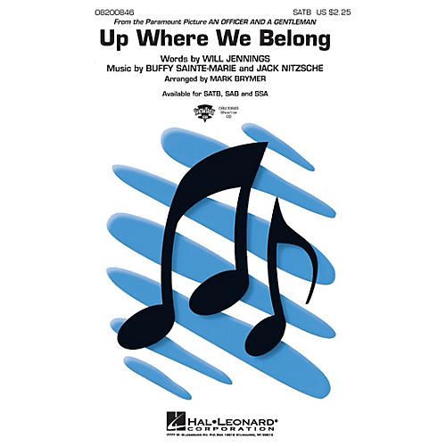 Hal Leonard Up Where We Belong SATB arranged by Mark Brymer