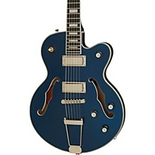 UpTown Kat ES Semi-Hollow Electric Guitar Sapphire Blue Metallic