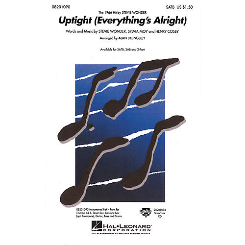 Hal Leonard Uptight (Everything's Alright) Combo Parts by Stevie Wonder Arranged by Alan Billingsley