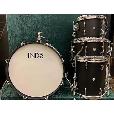 Used 2019 INDe Drum Lab 4 piece MAPLE Satin Black Drum Kit