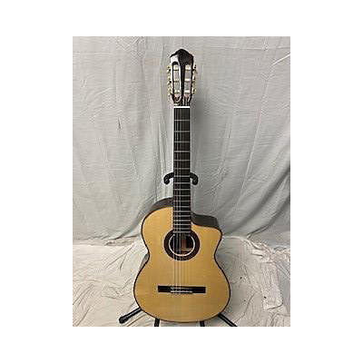 Used 2019 NEW WORLD P6505FS Natural Acoustic Electric Guitar