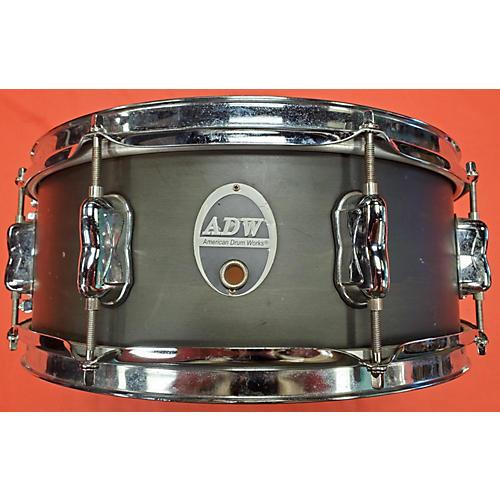 Used American Drum Works 14X5.5 Genaric Drum Satin Black Satin Black 211