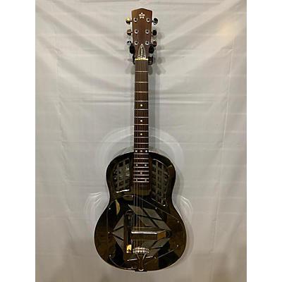 Used Amistar Tricone Chrome Resonator Guitar