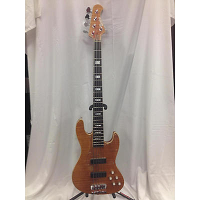Used Bacchus Strong 36 Super Jazz Amber Electric Bass Guitar