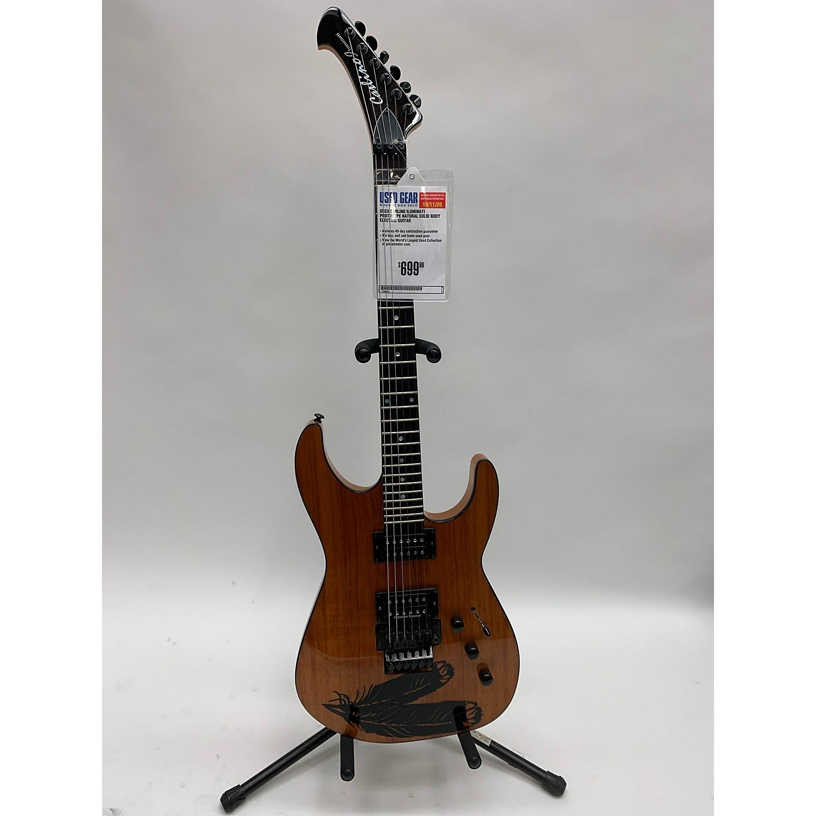 In Store Used Used CARLINO ILUMINATI PROTOTYPE Natural Solid Body Electric Guitar