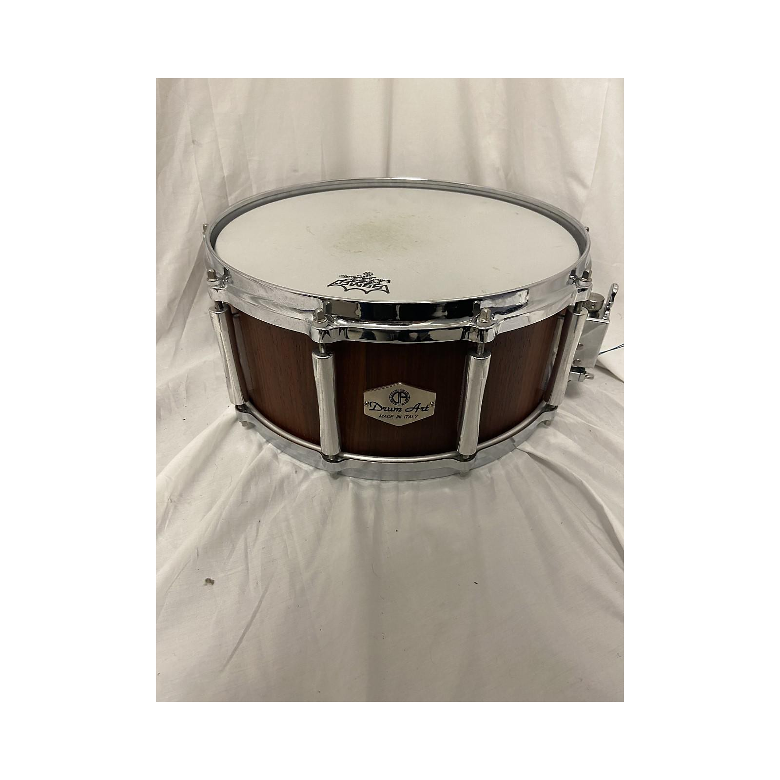 In Store Used Used Drum Art 6.5X14 Stave Padouk Wood Drum Natural
