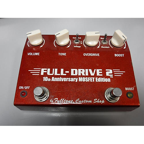 Used Fulltone FD2MOS Fulldrive 2 Mosfet Overdrive 10th Anniversary Effect Pedal