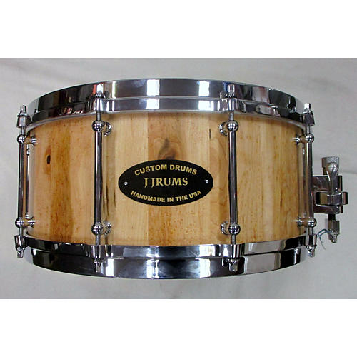 Used J Drums Custom Drums 5.5X14 Birdseye Mape Stave Drum Natural Natural 10