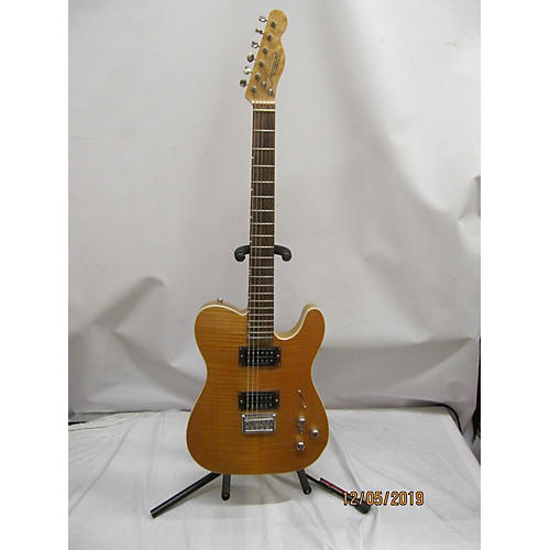 Used Jacquet T Style Trans Amber Solid Body Electric Guitar Trans Amber