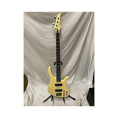 Used Kiesel David Bromberg Matte White Electric Bass Guitar
