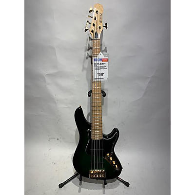 Used Kiesel JB5 Emerald Green Electric Bass Guitar