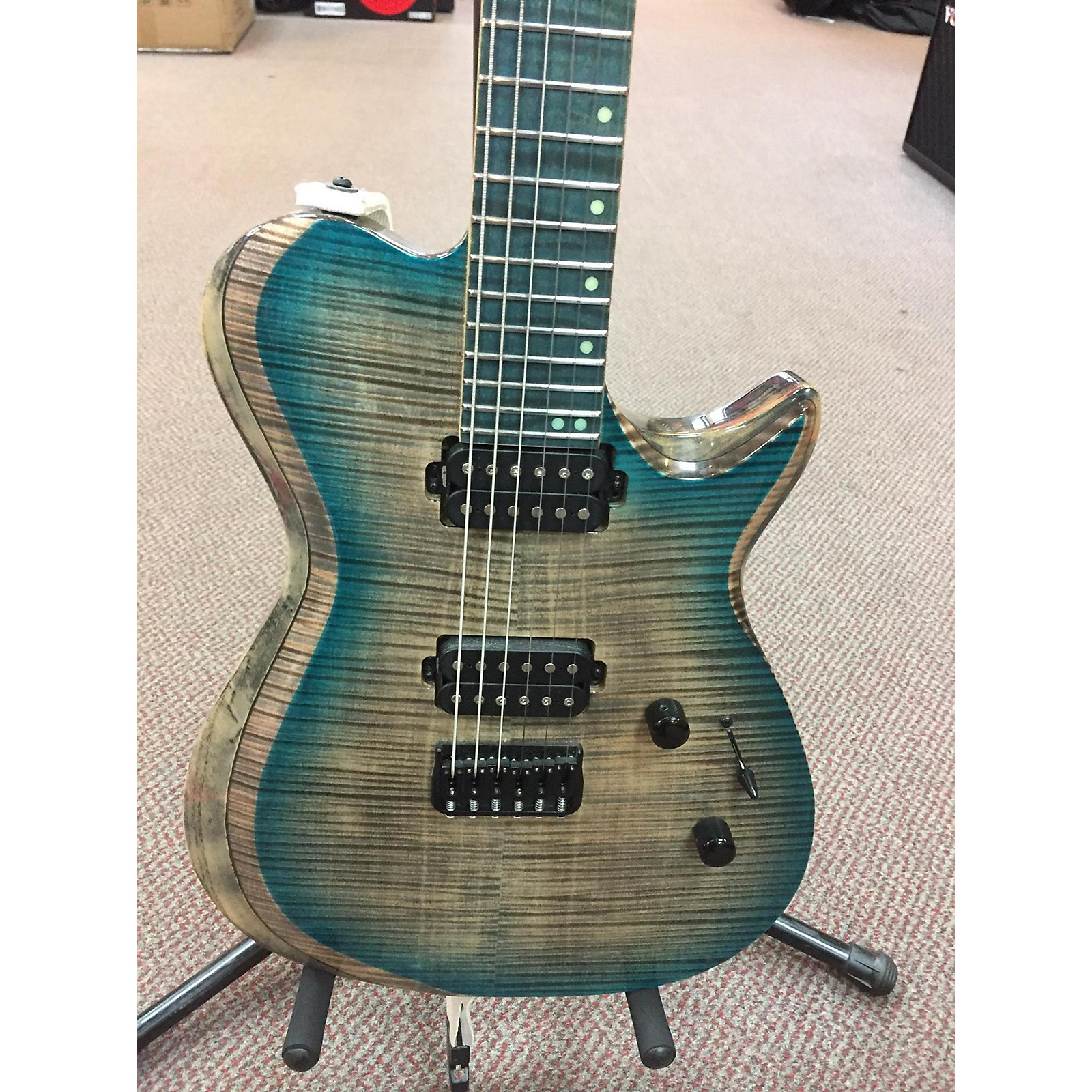 In Store Used Used Kiesel SCB Blue Gray Burst Solid Body Electric Guitar