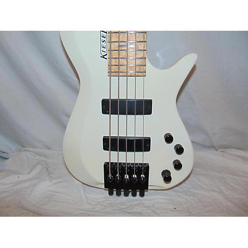 Used Kiesel Zeus 5 White Electric Bass Guitar White