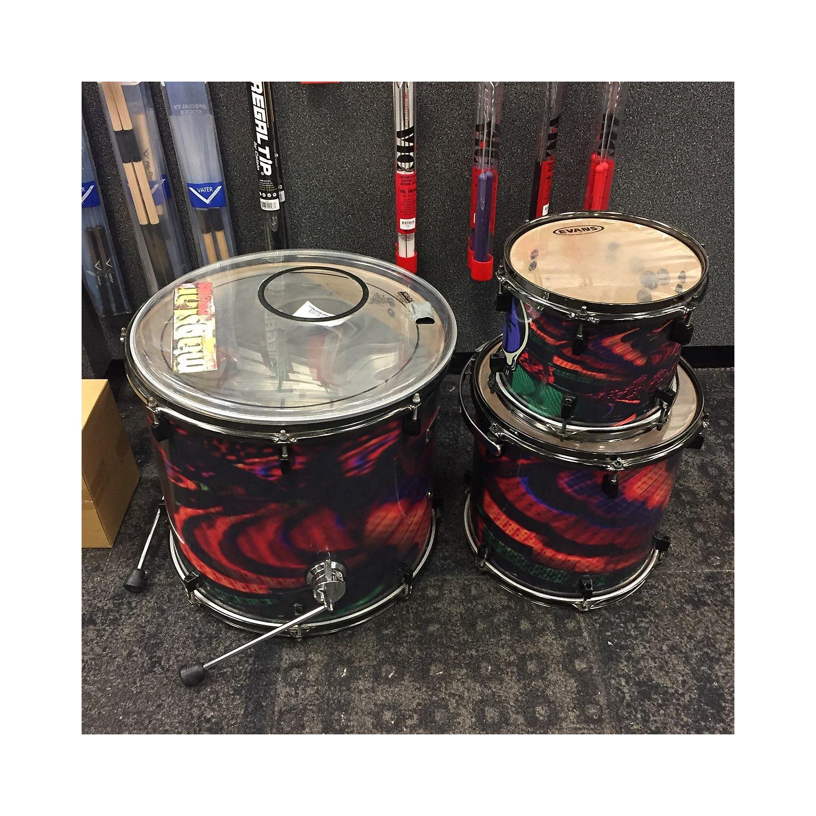 In Store Used Used MAGSTAR 3 piece CUSTOM Psycadelic Drum Kit