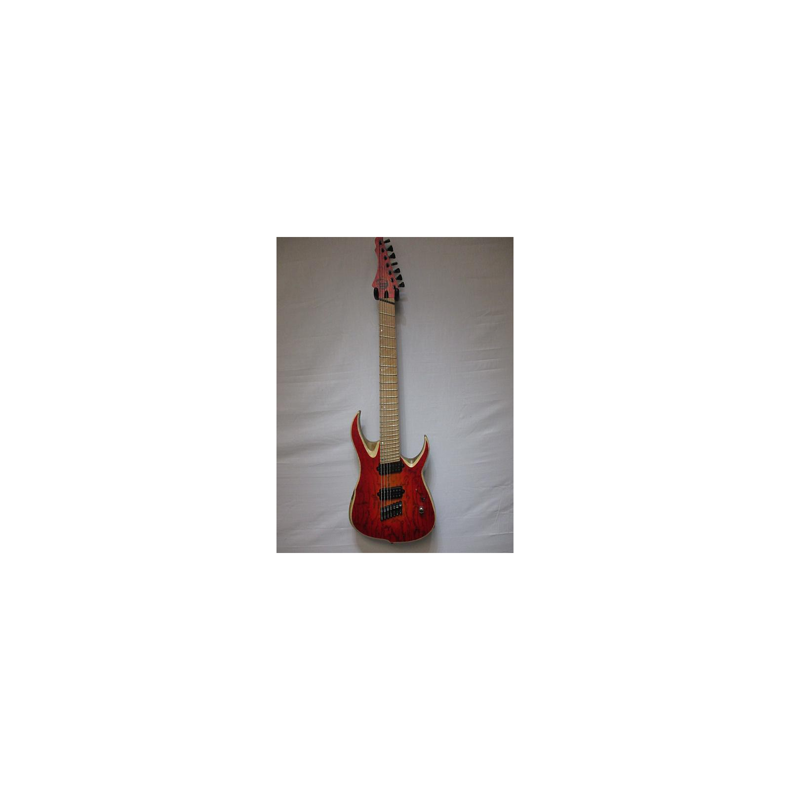 In Store Used Used Overload Multi Scale Raijin 7 Red Solid Body Electric Guitar