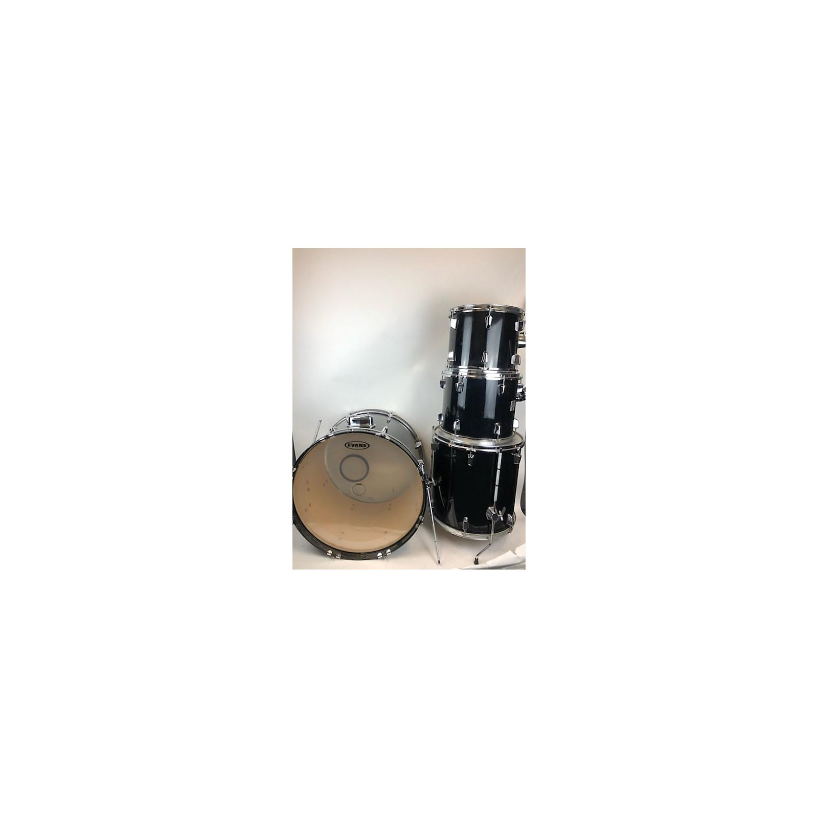In Store Used Used Percussion Plus 4 piece Drums Black Drum Kit