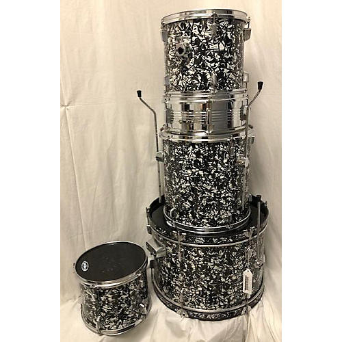 Used Percussion Plus 5 piece Standard Black Oyster Drum Kit