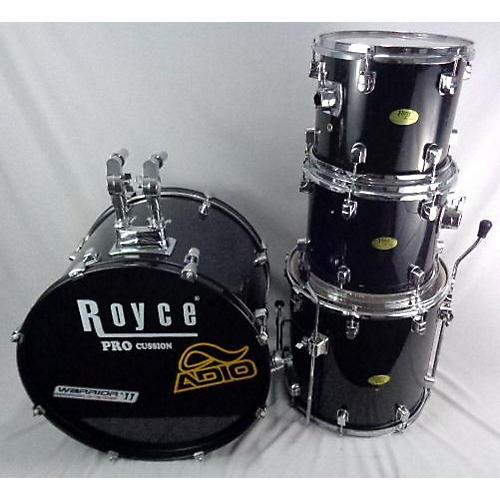 Used Royce 4 piece Royce Pro Black Drum Kit Black