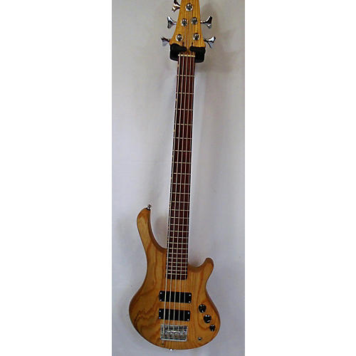 Used Simometti Standard 5 Natural Electric Bass Guitar Natural