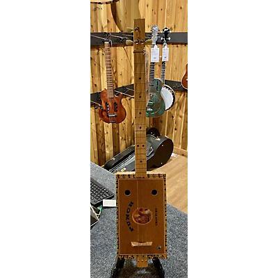 Used Snowden Cigar Box Guitar 3 String Natural Cigar Box Instruments