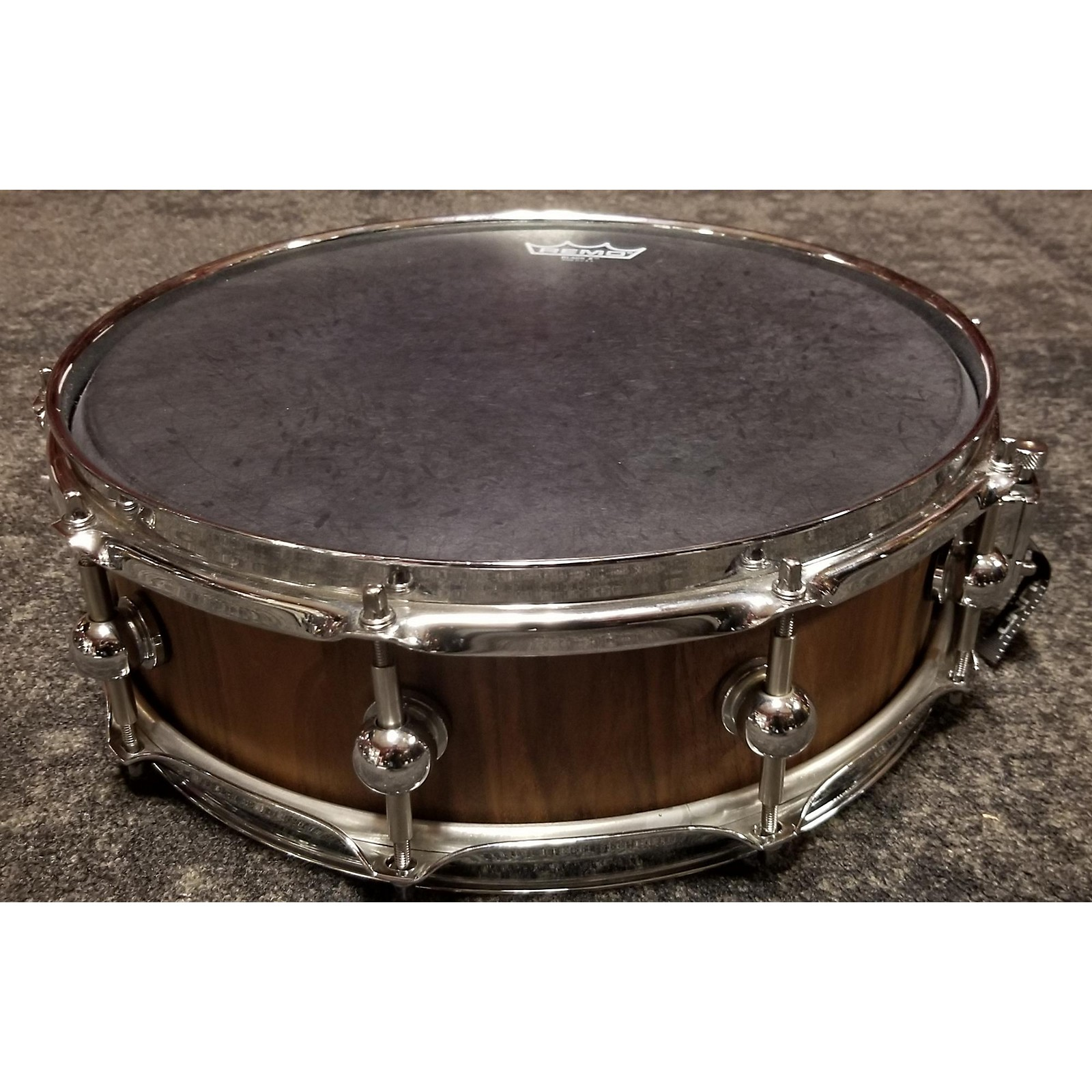 In Store Used Used Socal Drums 5X14 Bubinga Stave Snare Drum Natural