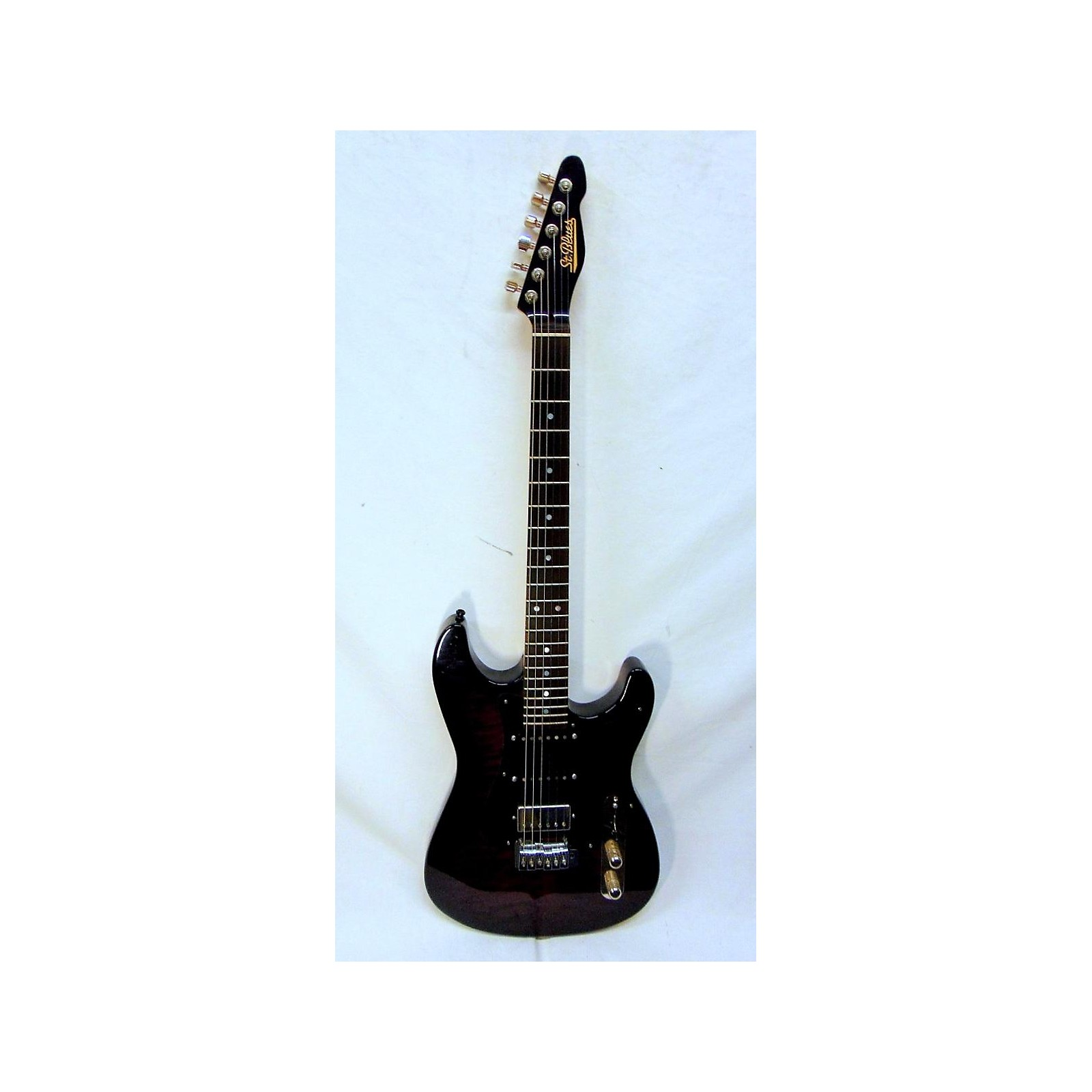 In Store Used Used St Blues Blindsider Trans Purple Solid Body Electric Guitar