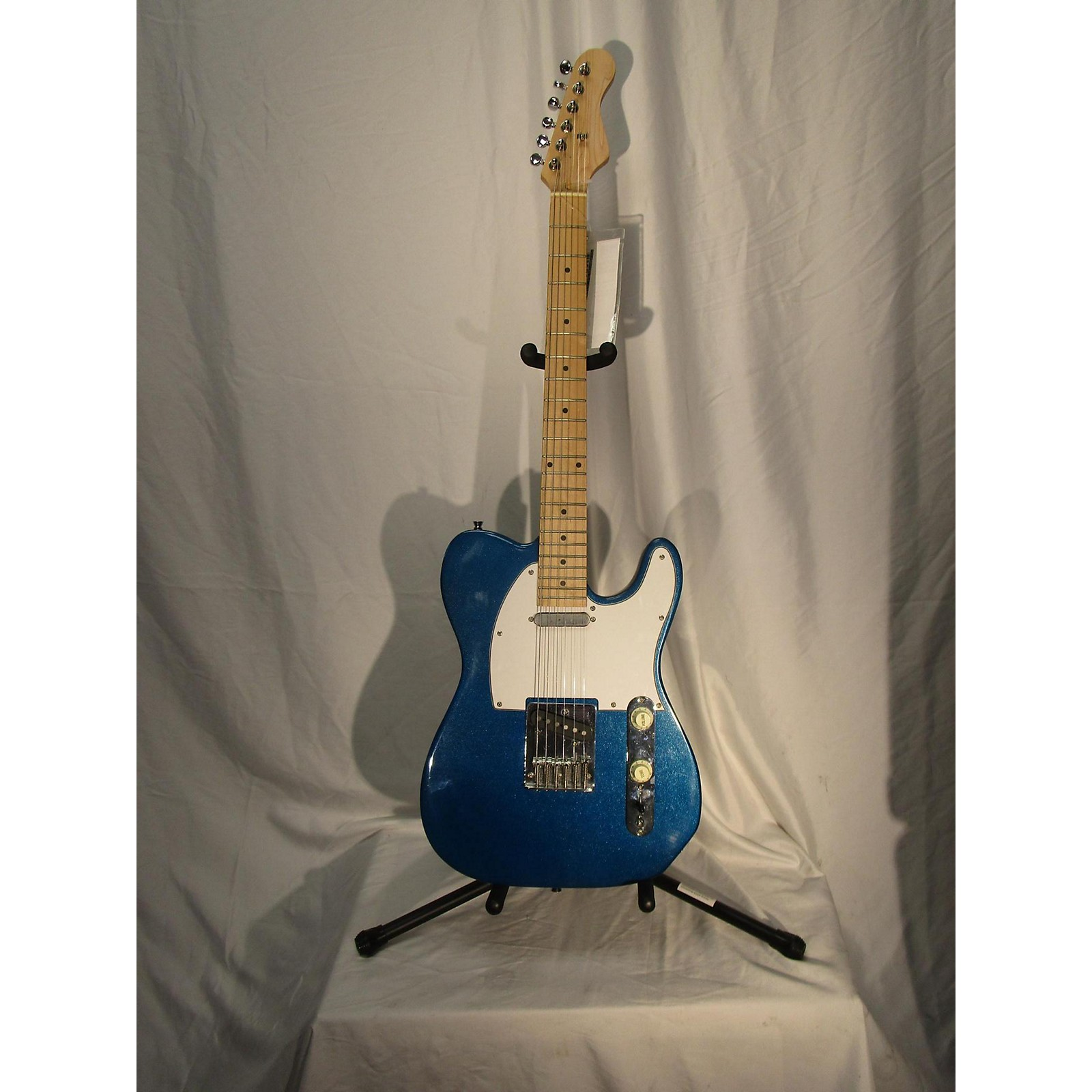 In Store Used Used Unbranded Telecaster Metallic Blue Solid Body Electric Guitar