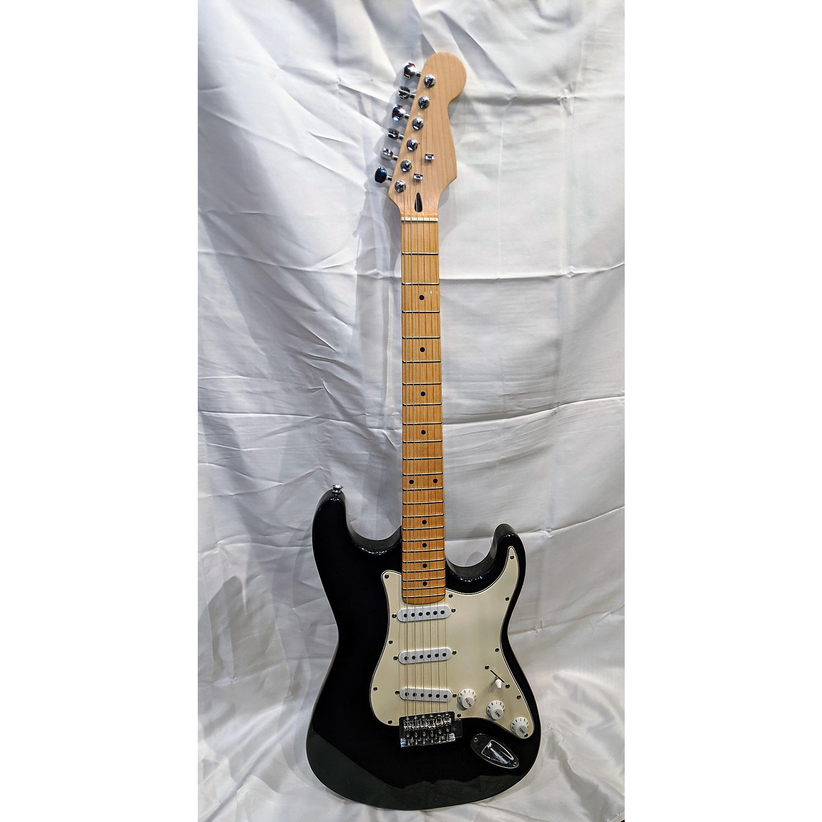 In Store Used Used Used Partscaster Black Solid Body Electric Guitar